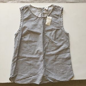J. Crew Factory Striped Corded Shell Size 6